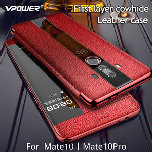 Luxurious Genuine Leather Flip Case for Huawei Mate 10 Series