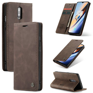 Leather Flip Stand Case for Oneplus 7 or Oneplus 7 Pro