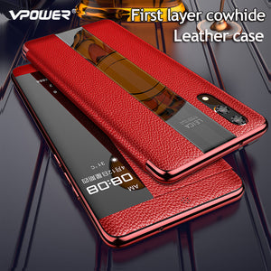 Luxurious Genuine Leather Flip Case for Huawei P20 or P20 Pro