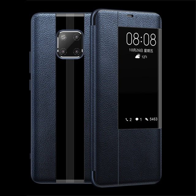 Luxurious Genuine Leather Flip Case for Huawei Mate 20 & Mate 30 Series