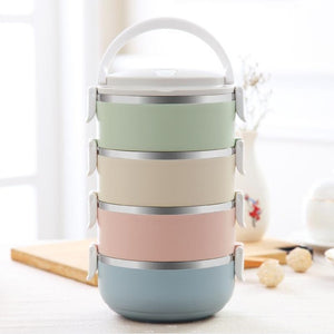 Portable Stainless Steel Japanese Bento Box