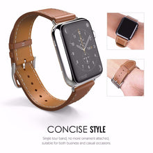 Timeless Women Genuine Leather Strap for Apple Watch