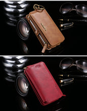 Retro Leather Wallet Case for Samsung Phones