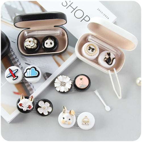 Black & White Contact lens case