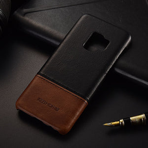 Genuine Stitched Leather Case for Galaxy S9/ S9 Plus