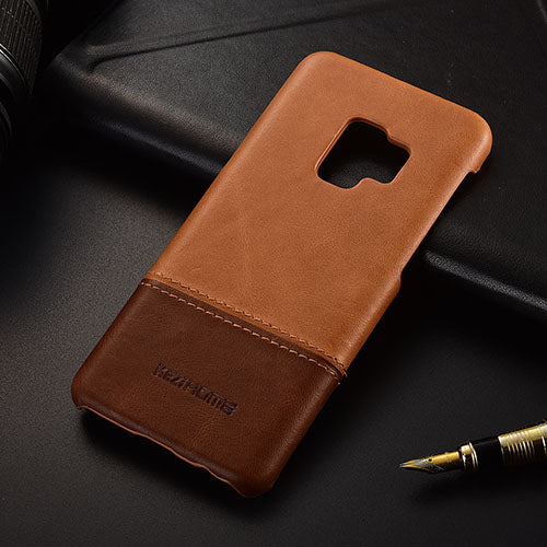 finest selection d8a4f fcd9c Genuine Stitched Leather Case for Galaxy S9/ S9 Plus