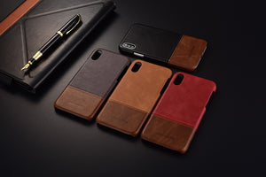 Genuine Stitched Leather Case for iPhones