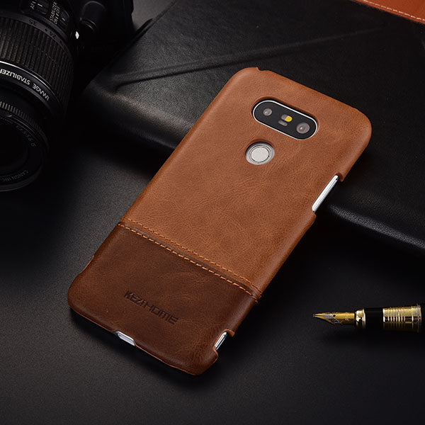 official photos 1fcab 8088c Genuine Stitched Leather Case for LG G5