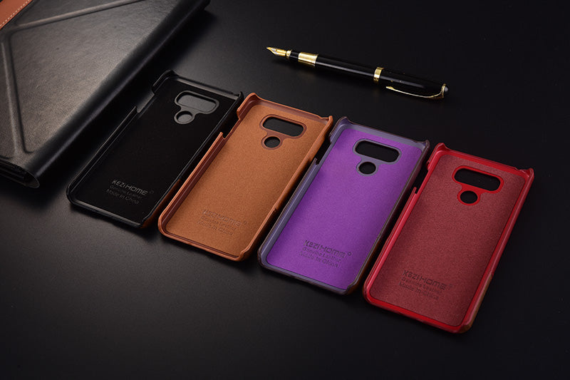 big sale 21708 32359 Genuine Stitched Leather Case for LG G6