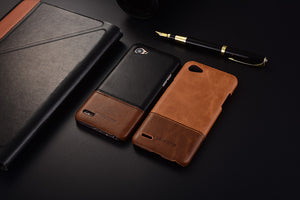 Genuine Stitched Leather Case for LG G7/ Q6/ Q8
