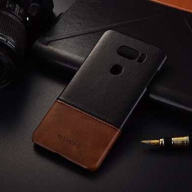 Genuine Stitched Leather Case for LG V30