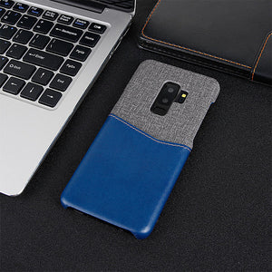 Metro Fabric Leather Case for Galaxy Phone Series