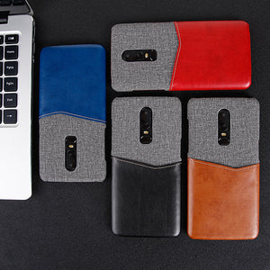 Metro Fabric Leather Case for Oneplus 6