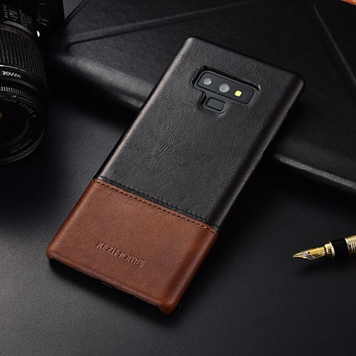 new style 42f43 4efe4 Genuine Stitched Leather Case for Galaxy Note 9