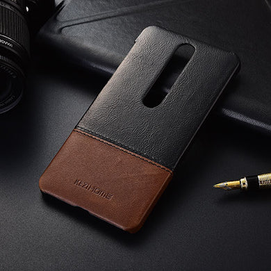Genuine Stitched Leather Case for Nokia 6 2018
