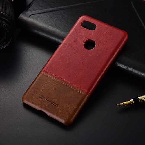 Genuine Stitched Leather Case for Google Pixel 3 or Google PIxel 3 XL