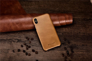 Genuine Leather Flip Cover for iPhones