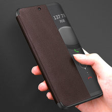 SmartView Genuine Leather Flip Cover for Huawei Phones