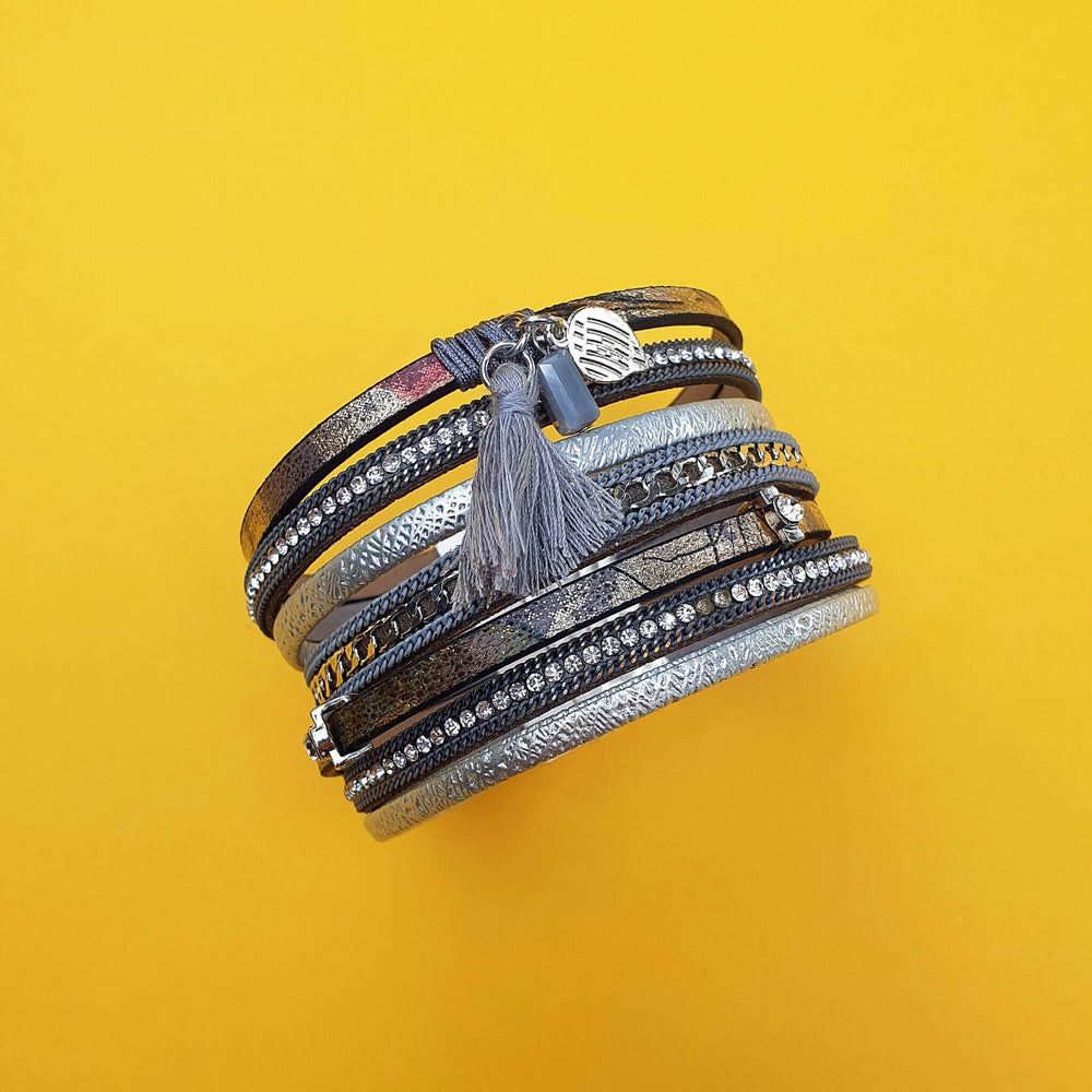 Bellina Wrap Bracelet Grey