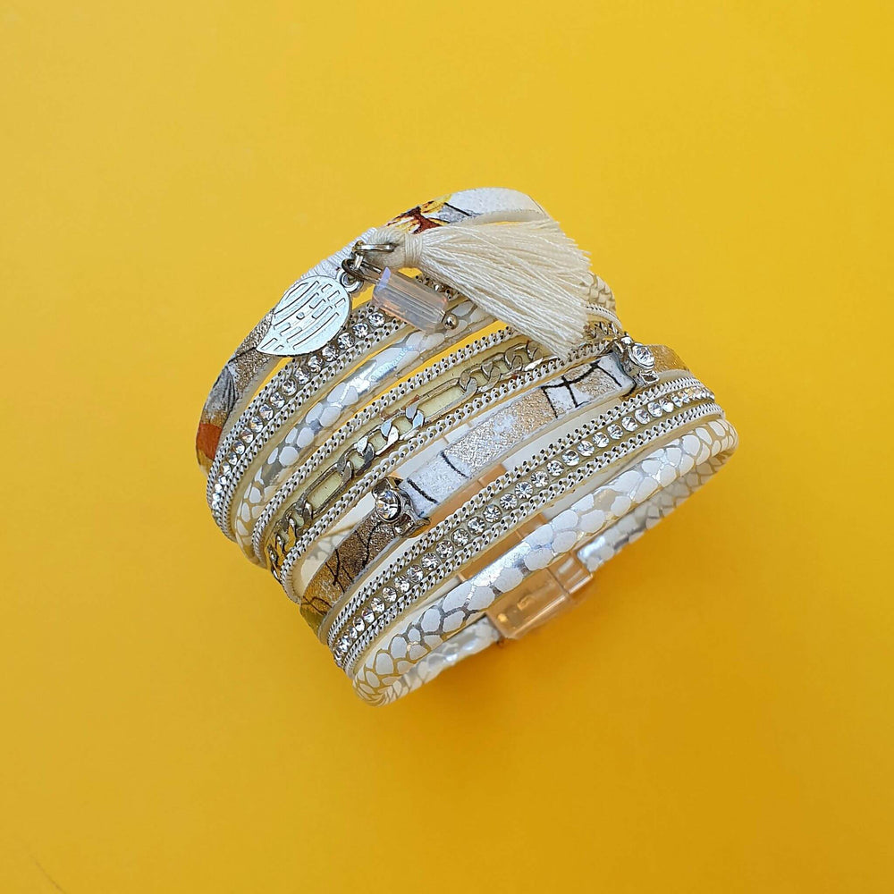 Bellina Wrap Bracelet White