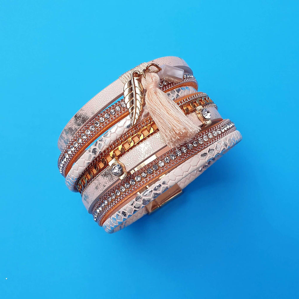 Bellina Wrap Bracelet Just Peachy