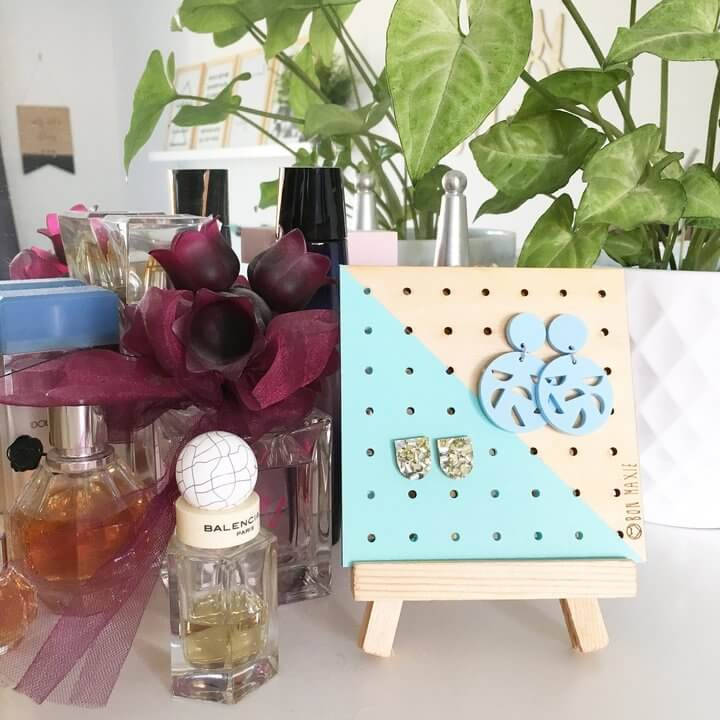Scandi Mint Earring Holder Mini