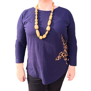 Woman wearing Luna Drop Necklace Butterscotch