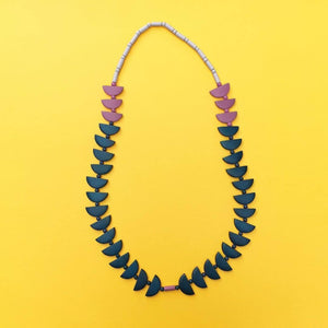 Cascade Necklace Deep Ocean + Purple