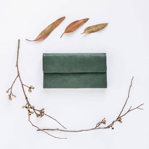 Chloe Leather Purse Dark Green