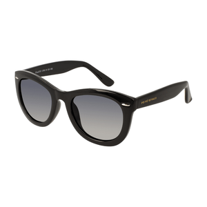 Image shows the large frame Cloud 201 sunglasses in black.