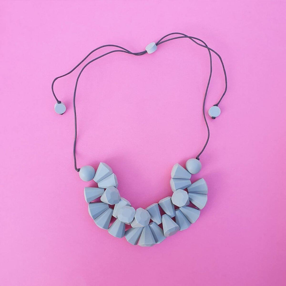 Diamonds are Forever Necklace Light Grey