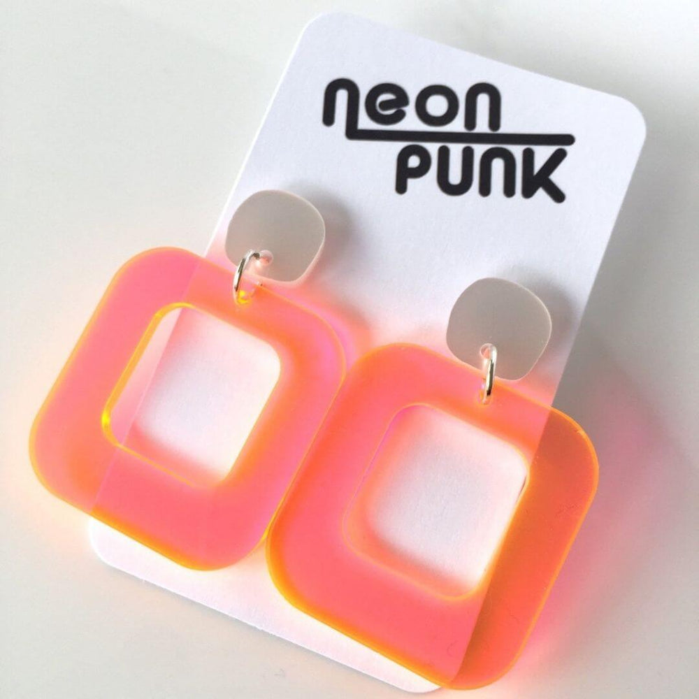 Don't Be A Square Orange Neon