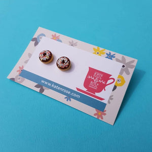 Donut Stud Earrings Chocolate