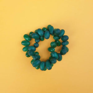 Small egg shaped beads make up the eggsie two strand bracelet.