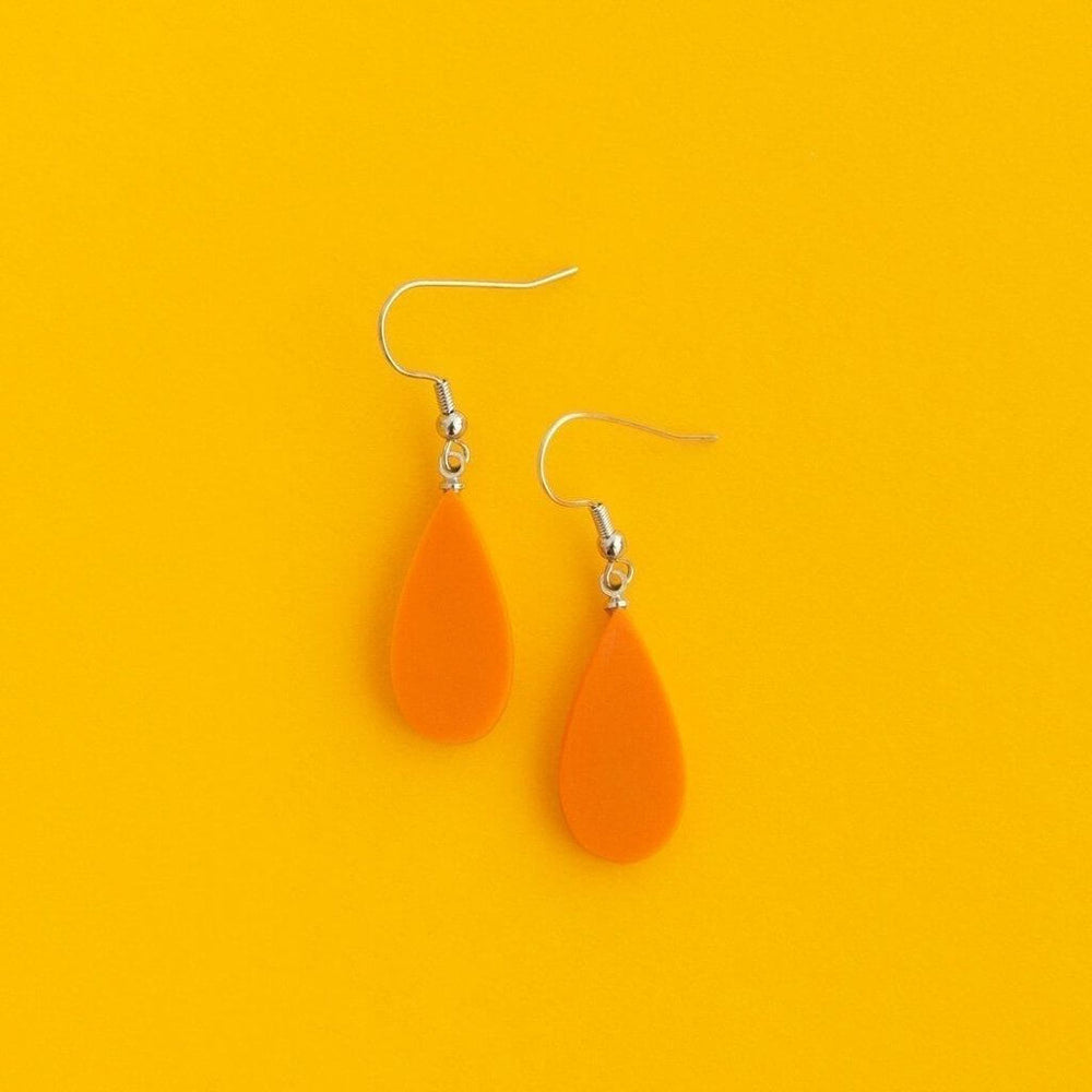 Everyday Droplet Earrings Papaya