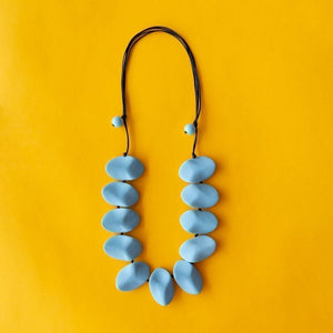 Everyday Wave Necklace Light Blue