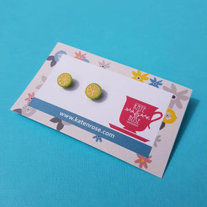 Lime Stud Earrings