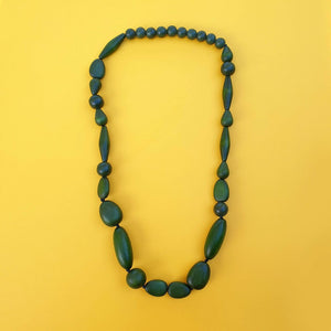 Luna Drop Necklace Olive
