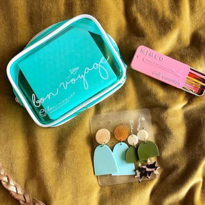 Minty fresh travelling earring pouch