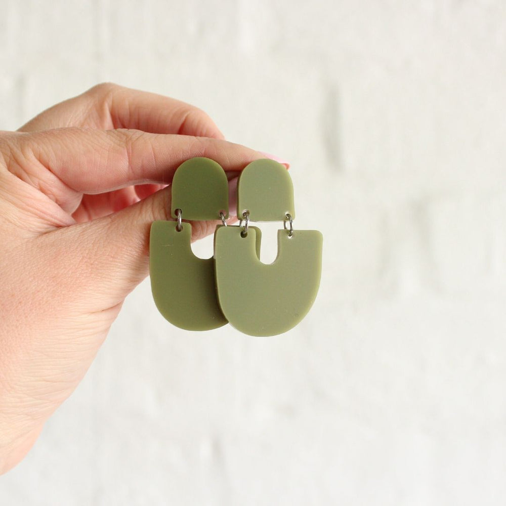 Moops Earrings Olive
