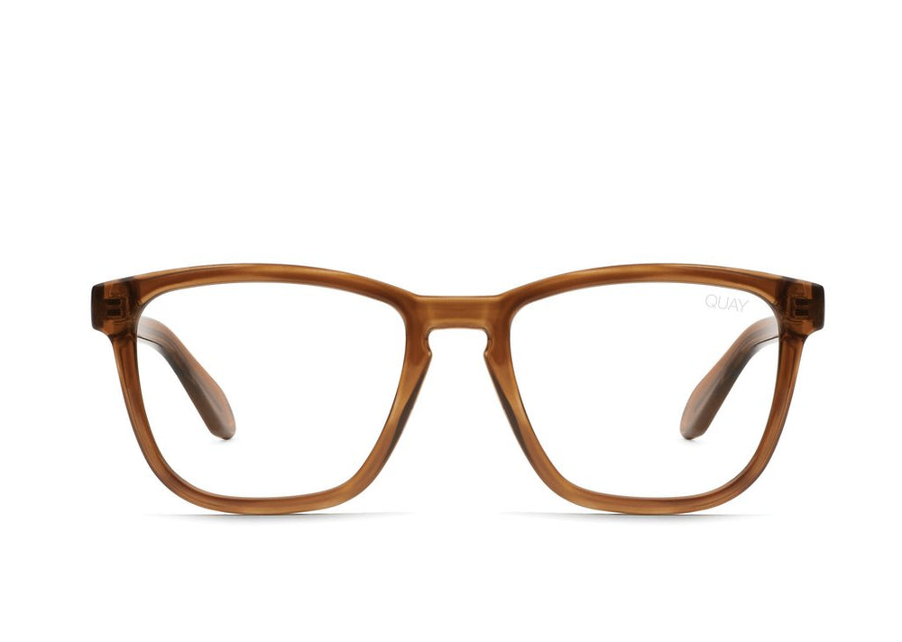 Hardwire Glasses Toffee/Clear Blue Light
