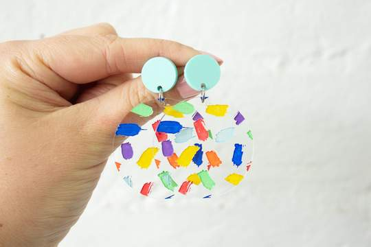 Rainbow Confetti Earrings