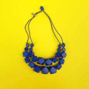 Rough Diamond Necklace Blue