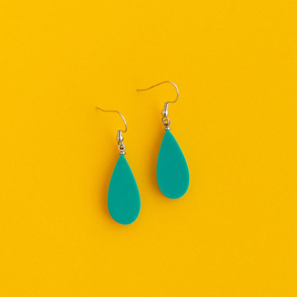 Everyday Droplet Earrings Aqua