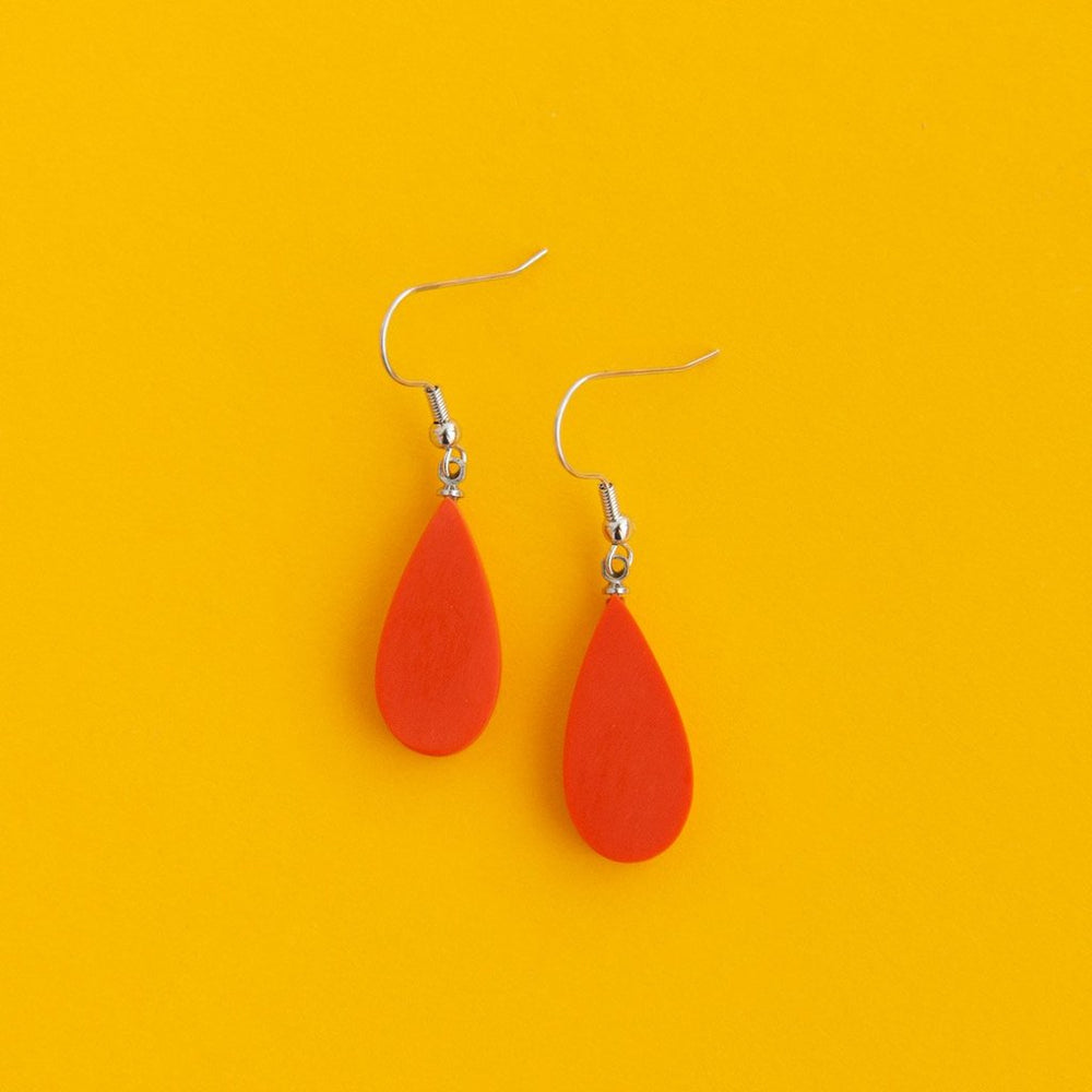 Everyday Droplet Earrings Orange