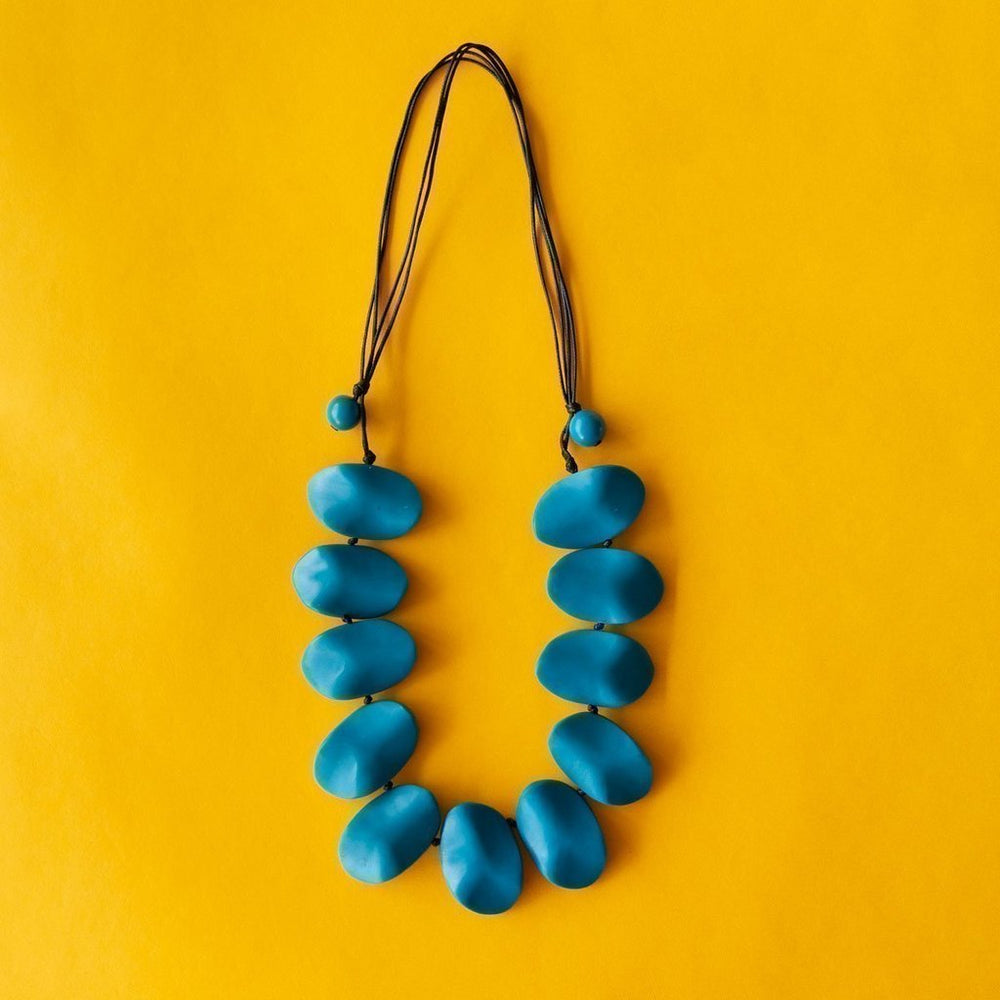 Everyday Wave Necklace Teal