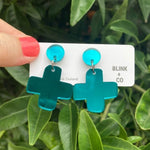 Star Crossed Earrings Teal