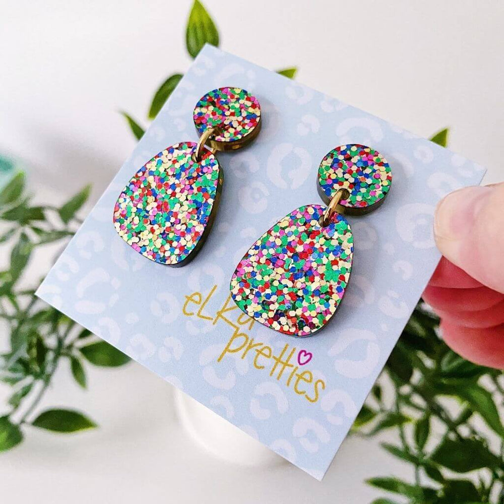 Stella Earrings Confetti