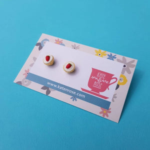 Strawberry Cupcake Stud Earring