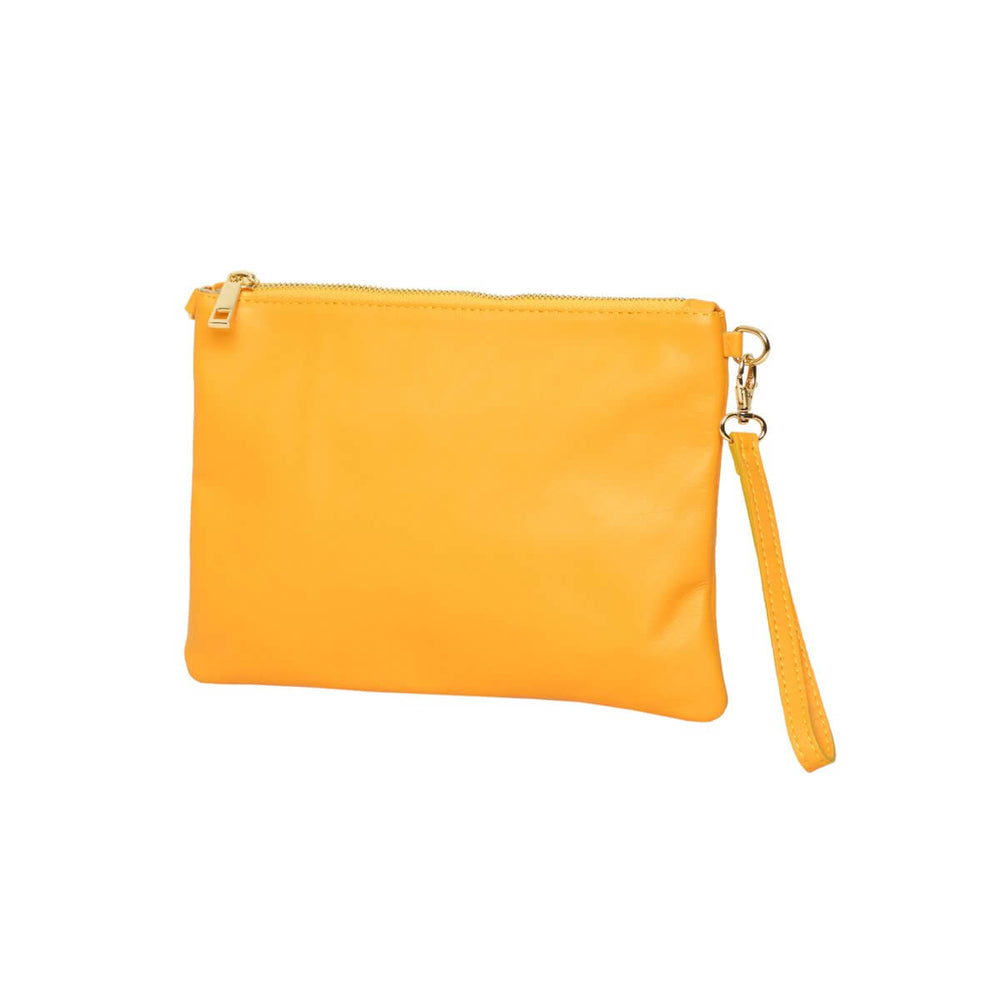 Tully Clutch Yellow with wrist strap